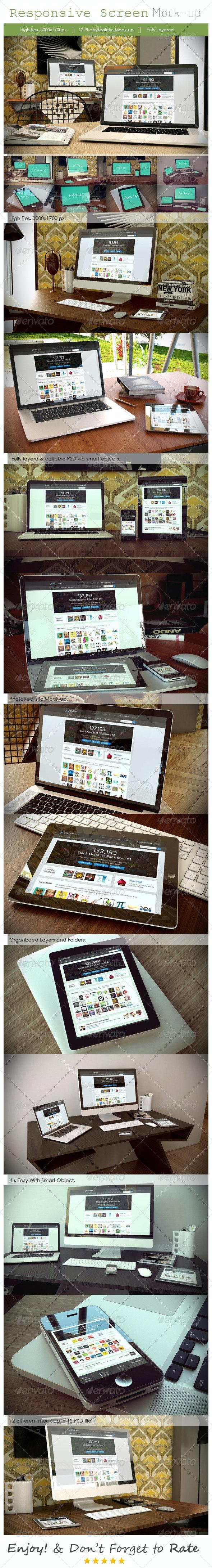 Responsive Device Mockup - Multiple Displays