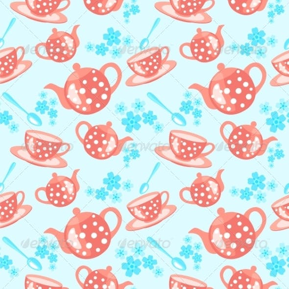 Morning Tea Seamless Pattern