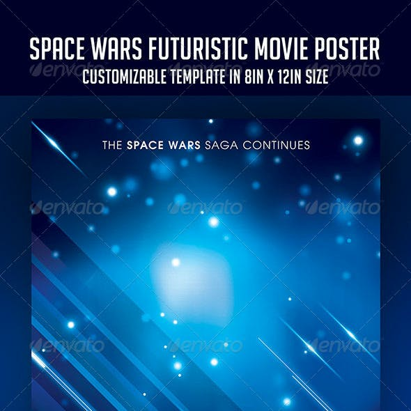 Space Wars | Futuristic Movie Poster