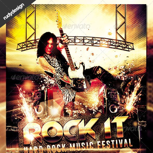 Rock Concert Music Festival Flyer