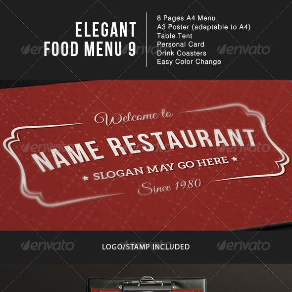 Elegant Food Menu 9