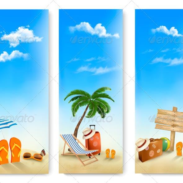 Three Summer Travel Banners