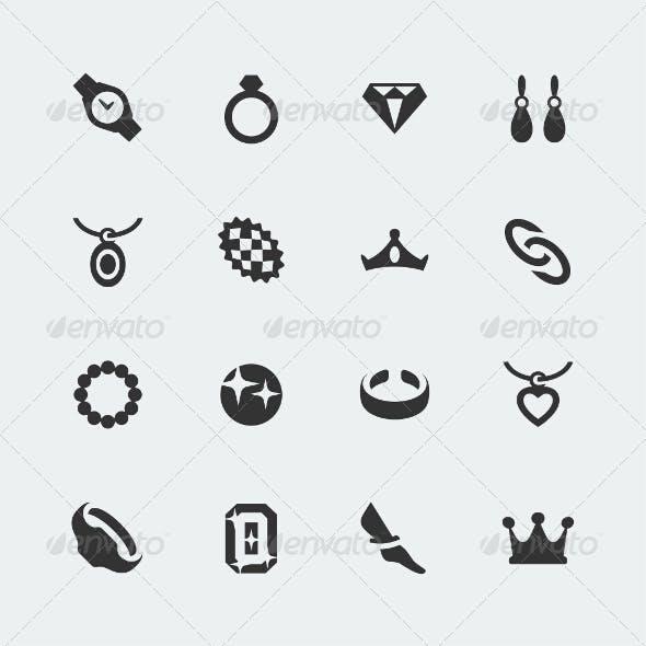 Vector Jewelry Mini Icons Set