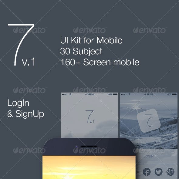 7 v.1 - Mobile UI Kit