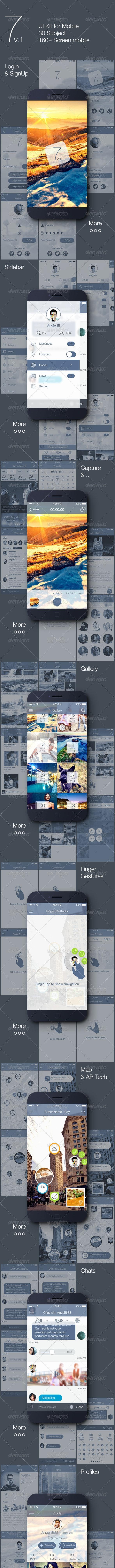 7 v.1 - Mobile UI Kit - User Interfaces Web Elements