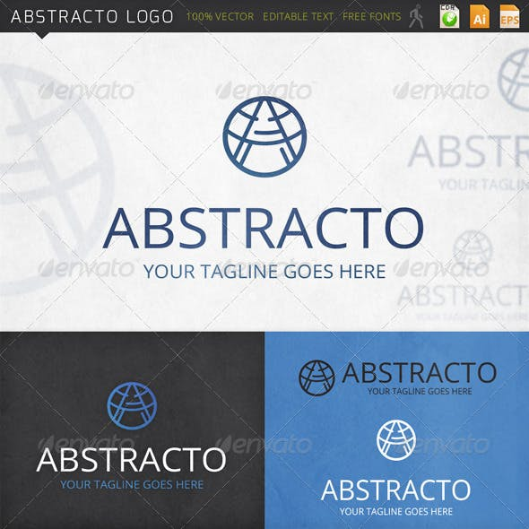 Abstracto Letter A Logo Template