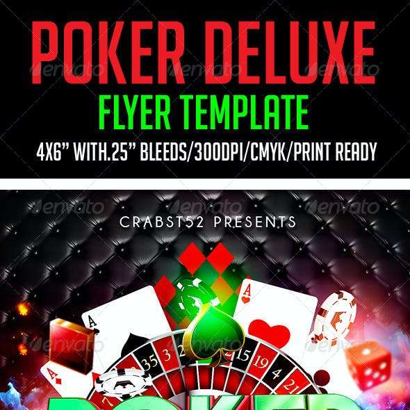Poker Deluxe Flyer Template