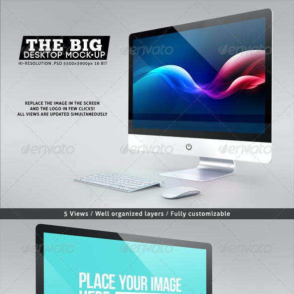 The Big Desktop Screen Mock-up