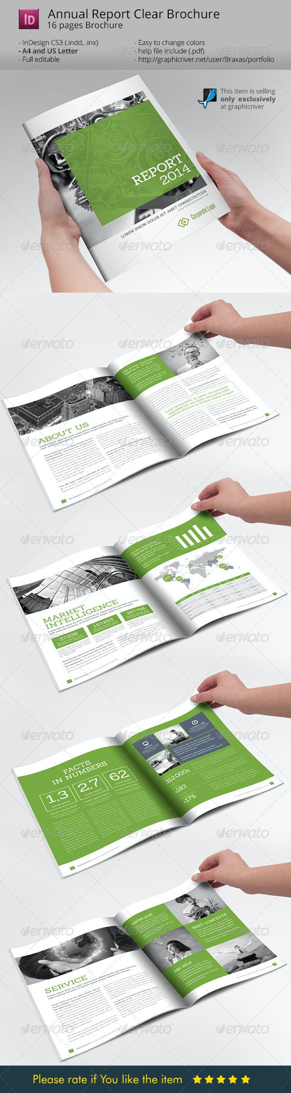 Annual Report Clean Indesign Brochure - Informational Brochures