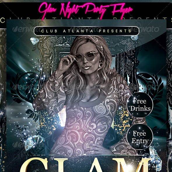Glam Night Party Flyer