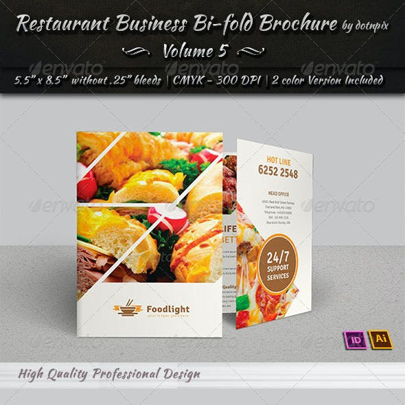 Restaurant Business Bi-Fold Brochure | Volume 5
