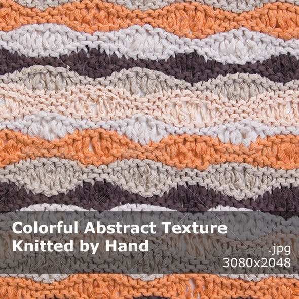 Abstract Texture Knitted by Hand
