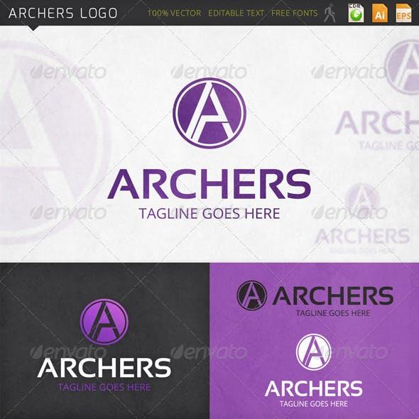 Archers Letter A Logo Template