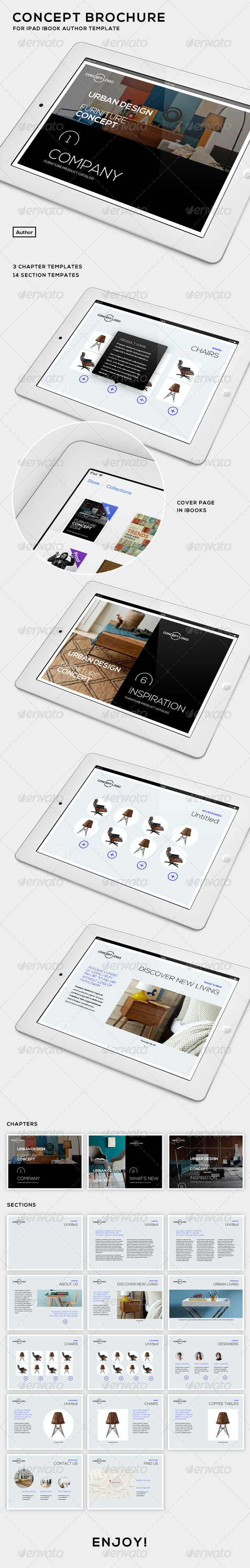 Concept Brochure for iPad - iBooks Author Template - ePublishing