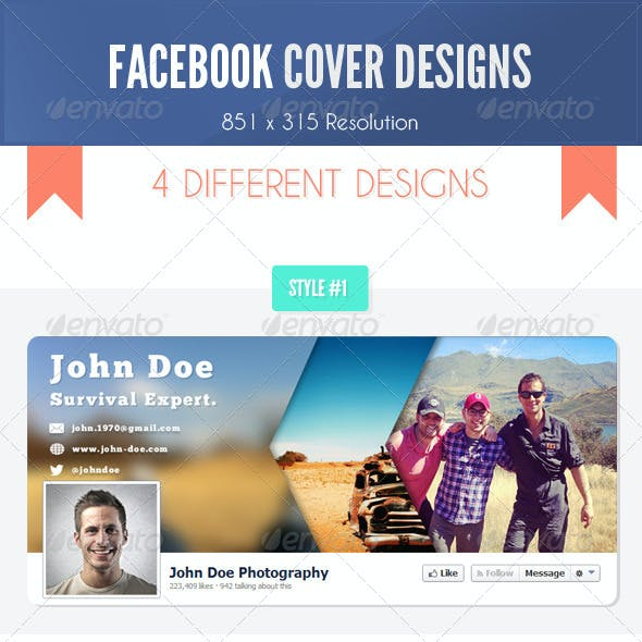 Facebook Timeline Covers - Pack of 4