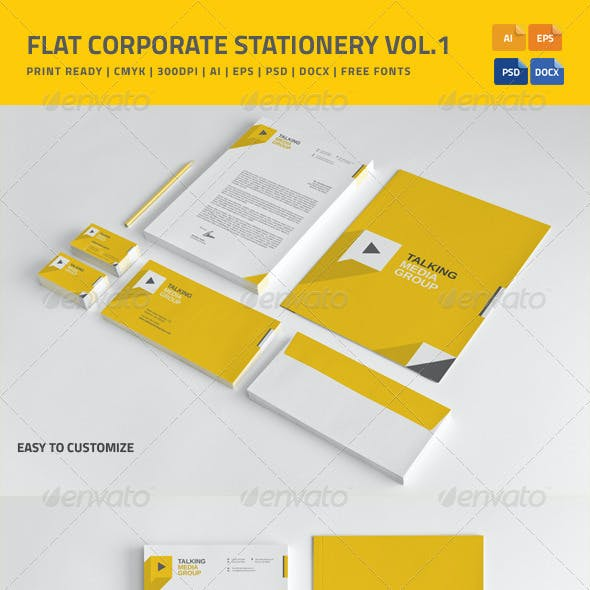 Flat Corporate Stationery vol.1