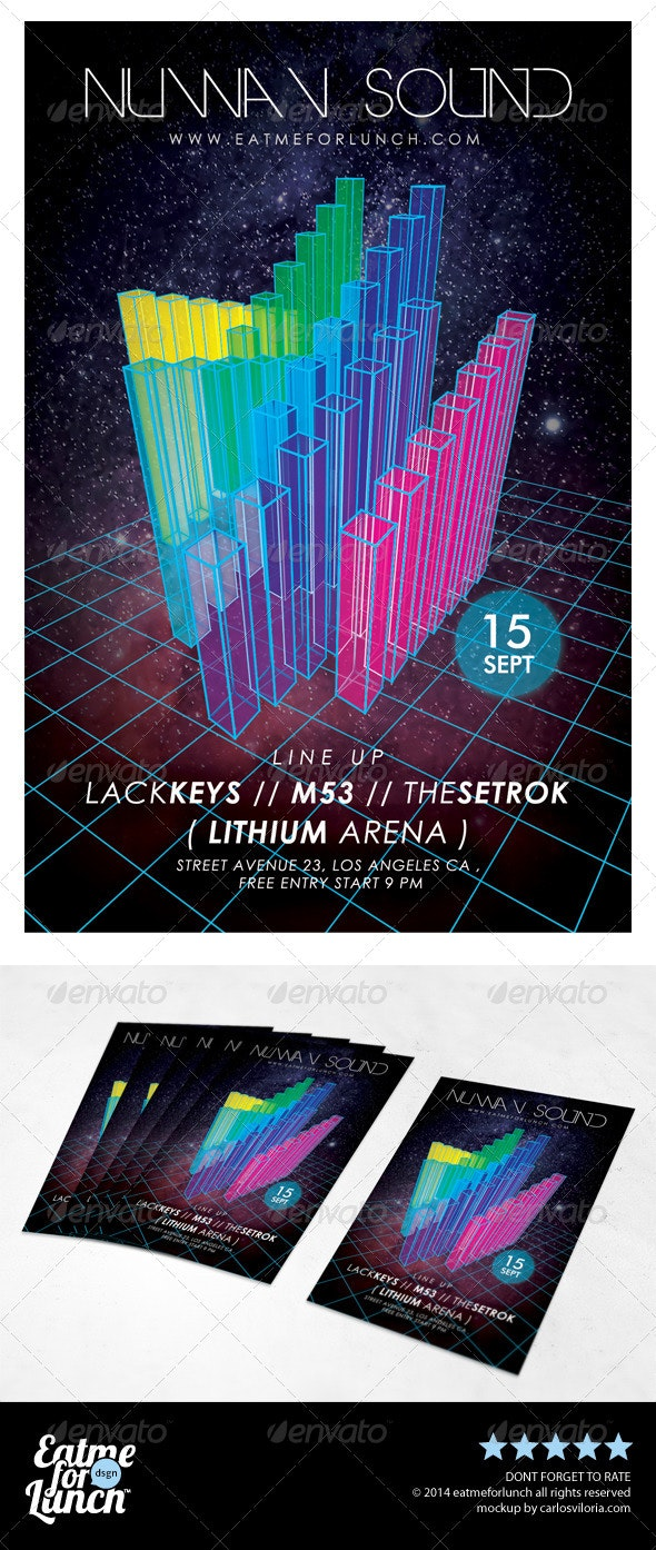 Retro Futurism Flyer Template - Events Flyers