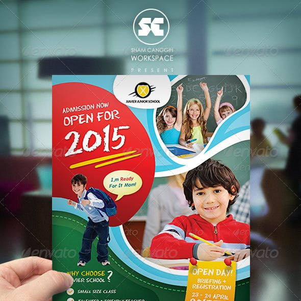 Kindergarten Junior School Flyer