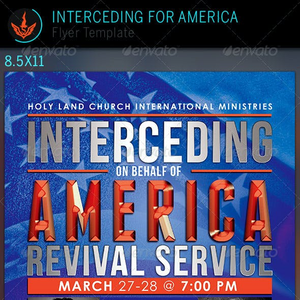 Interceding for America: Church Flyer Template