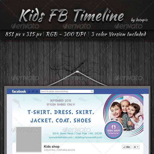 Kids Facebook Timeline Cover