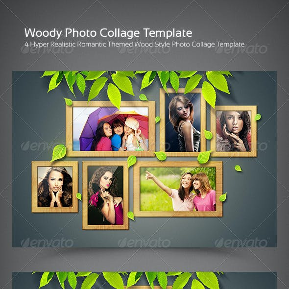 Woody Photo Collage Template