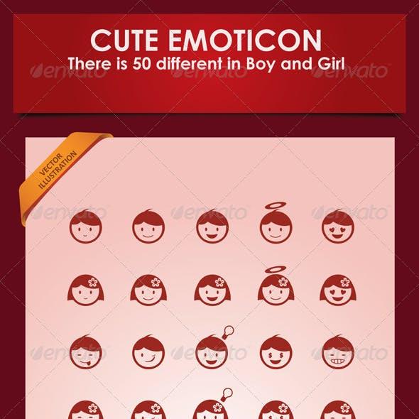 Boy and Girl Emoticon