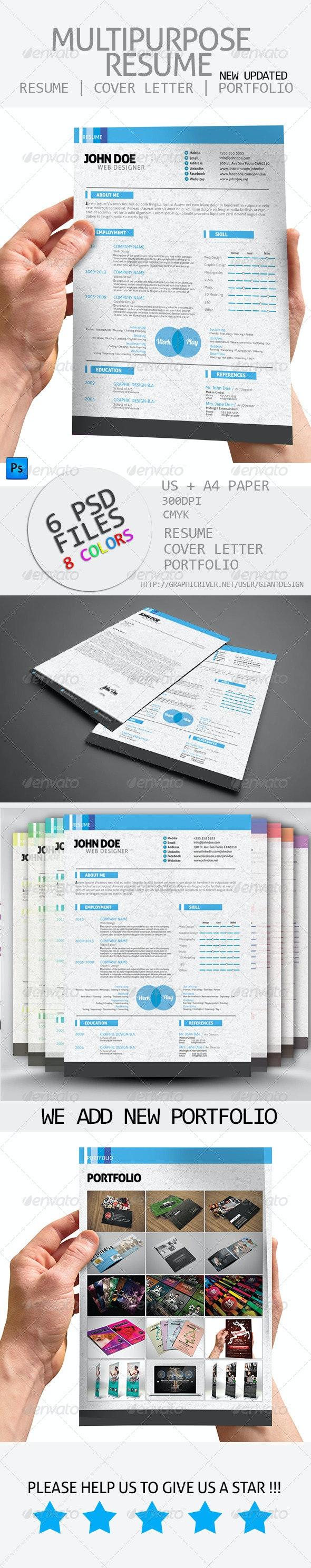 Multipurpose Resume - Resumes Stationery