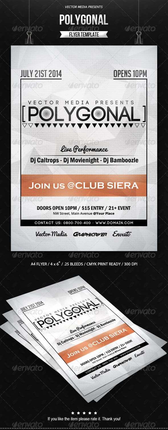 Polygonal - Flyer - Clubs & Parties Events