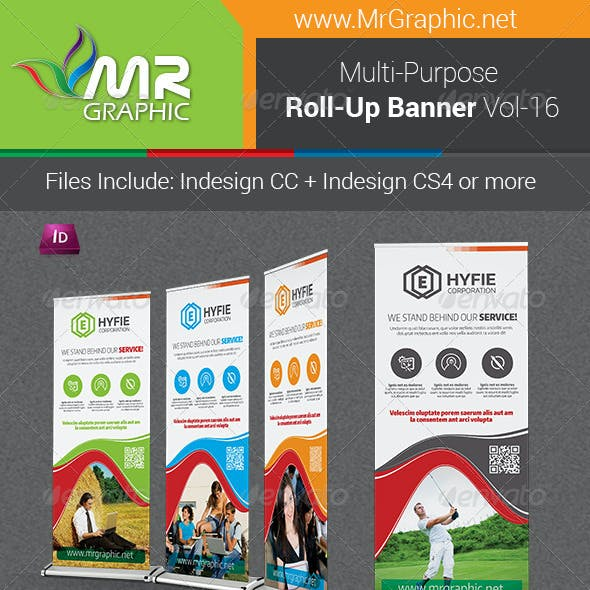 Multipurpose Business Roll-Up Banner Vol-16