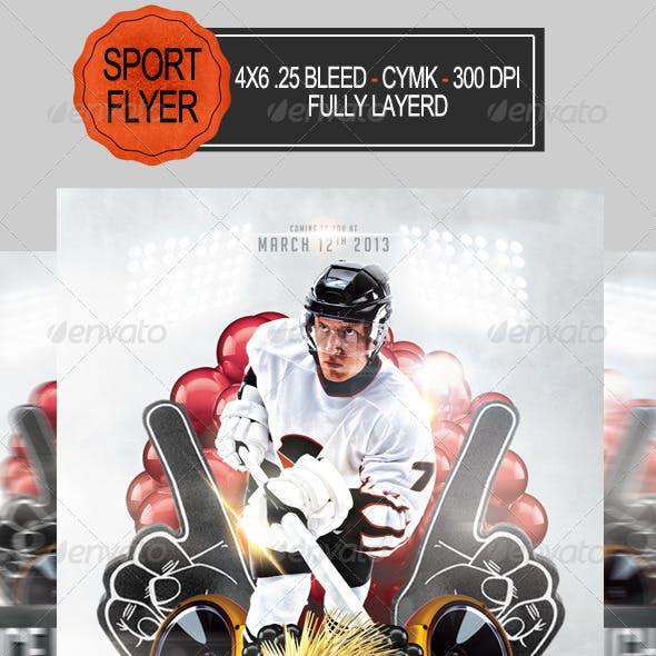 Ice Hockey Night Party Flyer