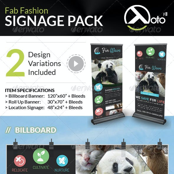Fin Wave Wildlife Rescue Signage Pack