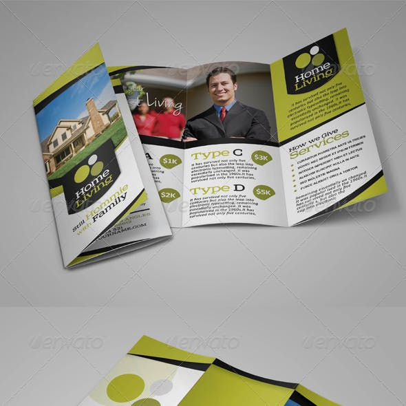 Living Real Estate Trifold Brochure
