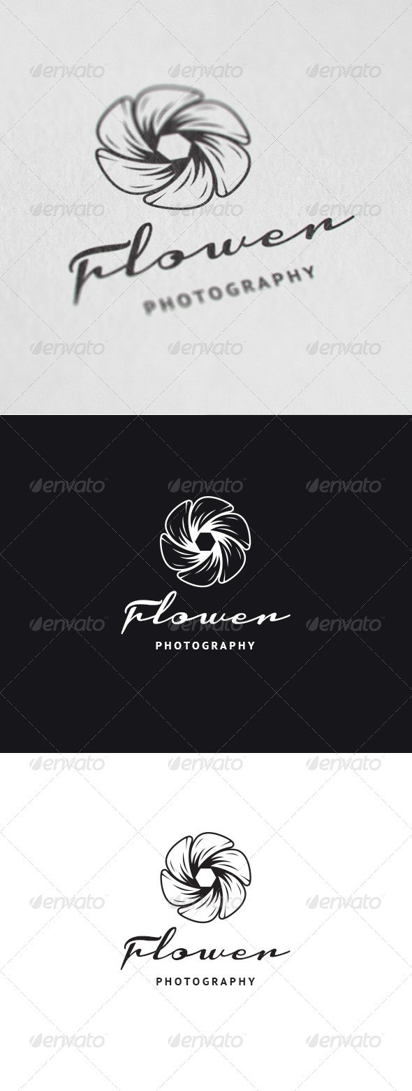 Flower Photography Logo - Nature Logo Templates