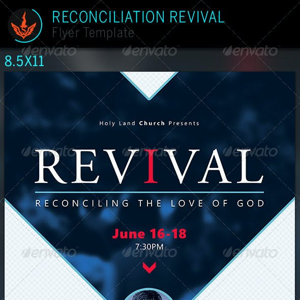 Reconciliation Revival: Church Flyer Template