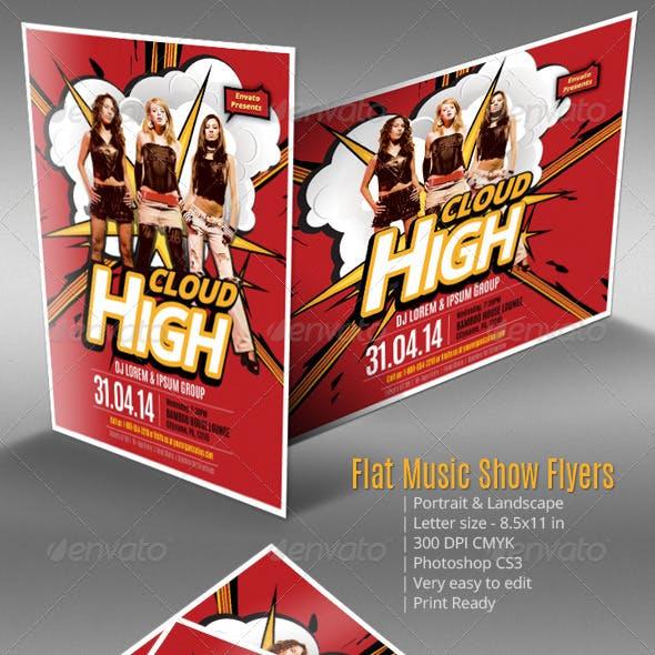 Flat Music Show Flyers