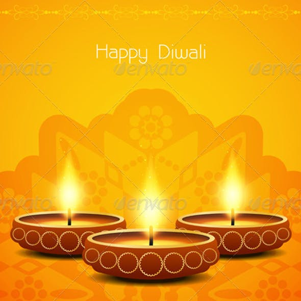 Abstract Diwali Background Design.