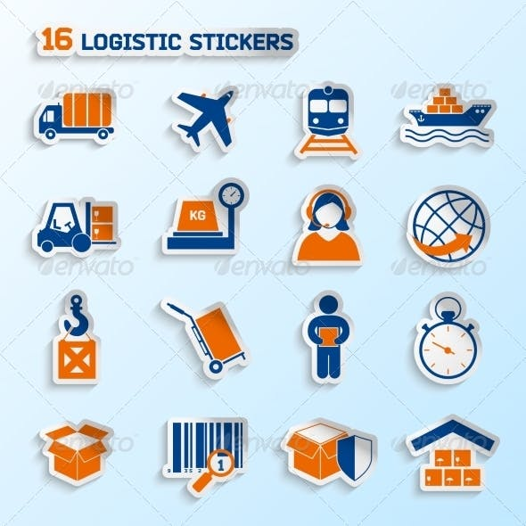 Logistic Stickers Set