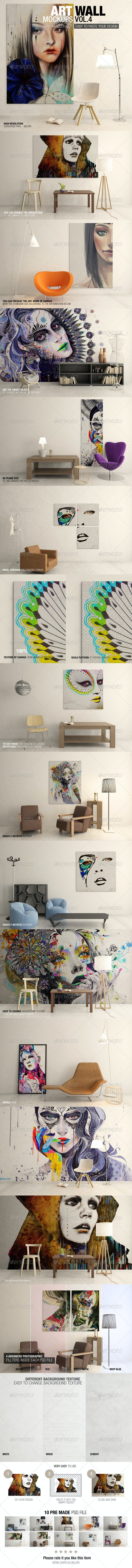 Art Wall Mockups Vol.4 - Miscellaneous Displays