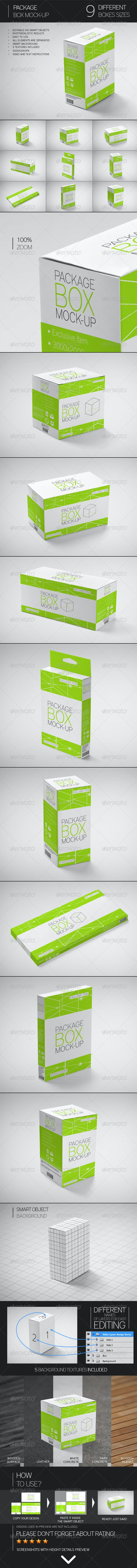 Package Box Mock-Up - Miscellaneous Packaging