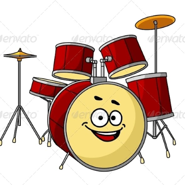 Drum Set with Laughing Smile