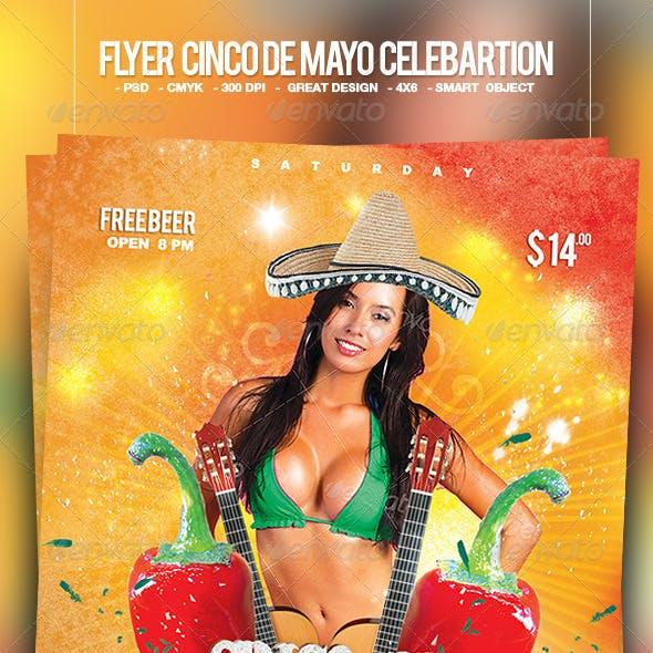 Flyer 5 de Mayo Celebration Party