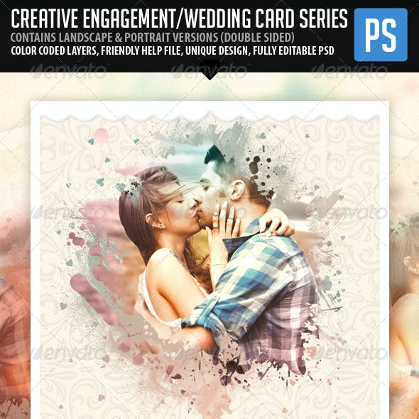 Creative Engagement Wedding Card