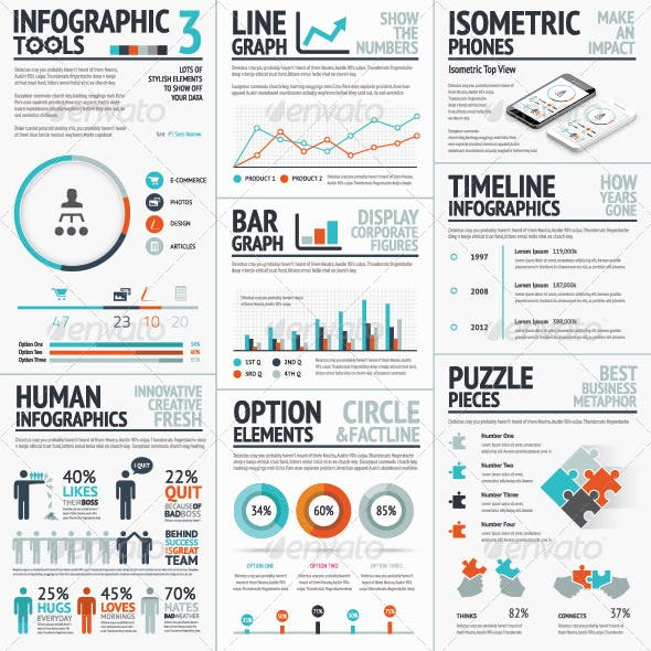 Recolored Infographic Elements Vector Set
