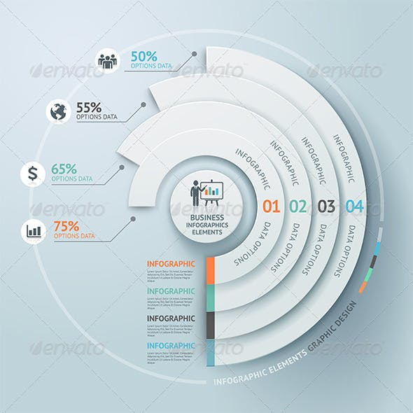 Business Infographic Circle Elements