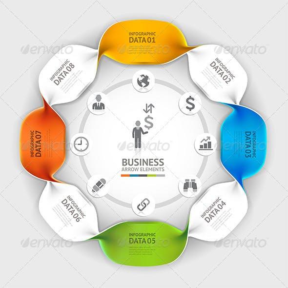 Modern Business Twist Infographic Template