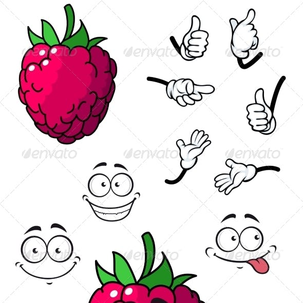 Cartoon Raspberry