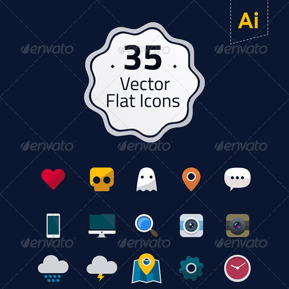 35 Vector Flat Icons
