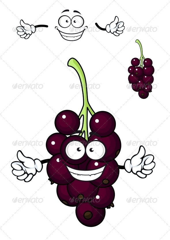 Cartoon Bunch of Currant Berries - Food Objects