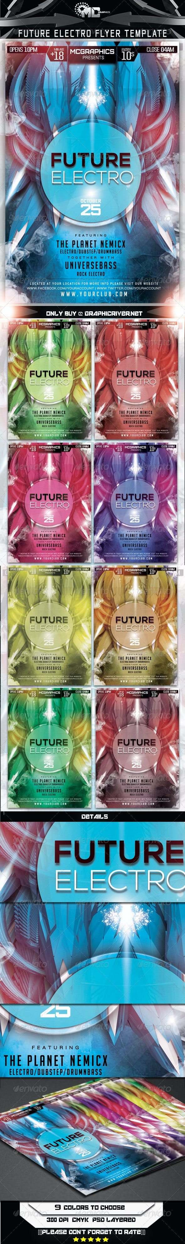 Future Electro Flyer Template - Flyers Print Templates