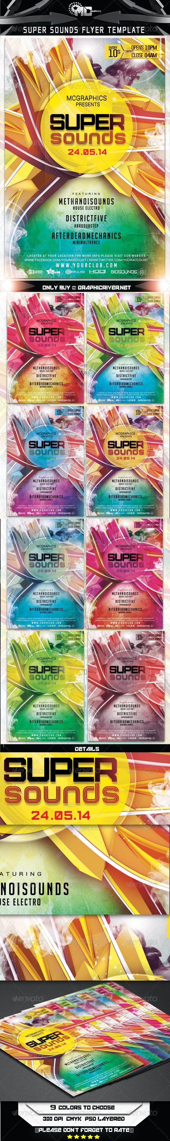 Super Sounds Flyer Template - Flyers Print Templates